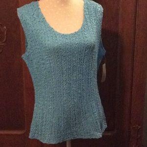 Cornflower blue sleeveless blouse- LG